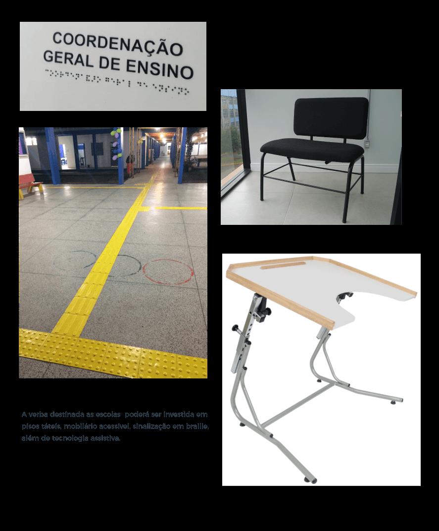 produtos para acessibilidade nas escolas